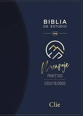 Picture of Reina Valera Revisada Biblia de Estudio del Mensaje Profético, Leathersoft, Café, Interior a DOS Colores, Con Índice