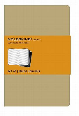 Journal Moleskine Cahier Kraft Ruled Extra Large