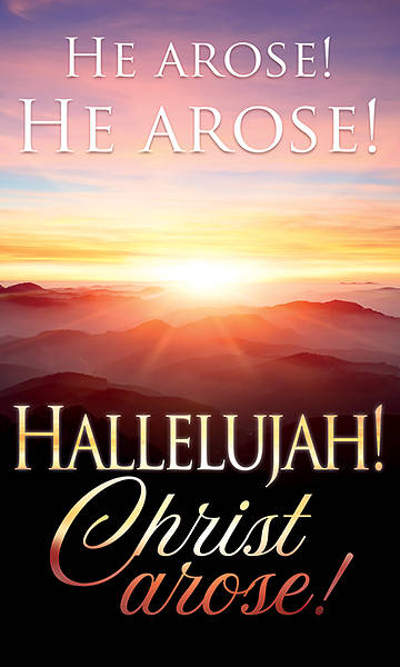 Picture of He Arose! Hallelujah! Christ Arose! Easter 3' x 5' Fabric Banner