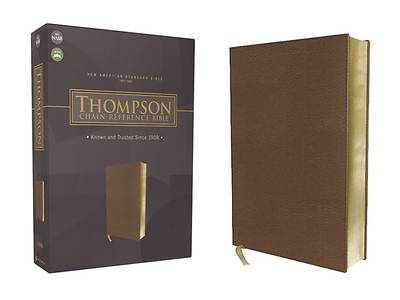 Picture of Nasb, Thompson Chain-Reference Bible, Leathersoft, Brown, Red Letter, 1977 Text