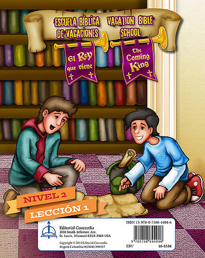 Concordia VBS 2014 El Rey que viene/The Coming King Bilingual Level 2 Student Leaflets (pkg5 )