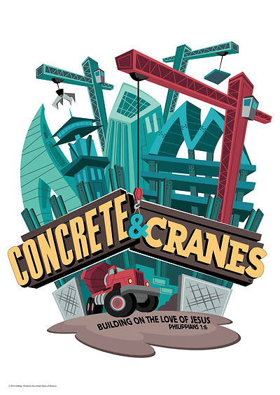 Picture of Vacation Bible School (VBS) 2020 Concrete and Cranes Wall Art Pkg 9