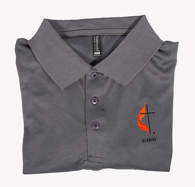 Picture of Polo Shirt - Medium Clergy Cross and Flame