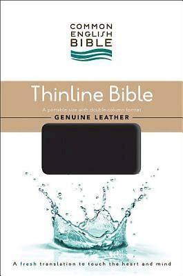 CEB Common English Thinline Bible, Genuine Leather Cowhide Black