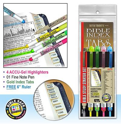Bible Study Starter Set-Gold Tabs