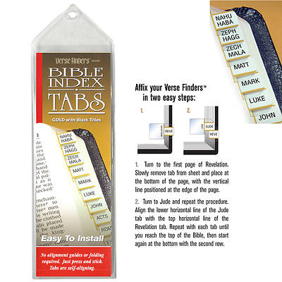 Verse Finder Bible Tabs - Horizontal Gold