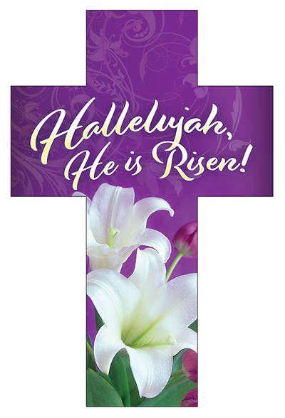Picture of Hallelujah He is Risen! Easter Cross Bookmark (Pkg of 25)