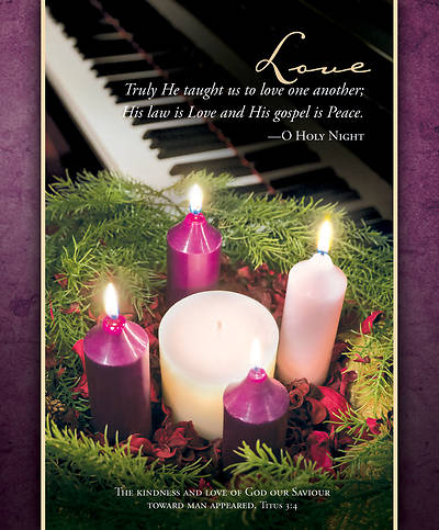 Picture of Love Wreath and Piano Advent Legal Size Bulletin
