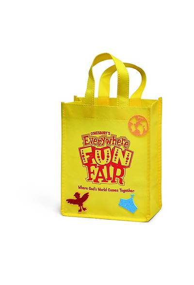 Vacation Bible School 2013 Everywhere Fun Fair  Pkg of 12 Welcoming Neighbor Bag Craft Day 5 VBS