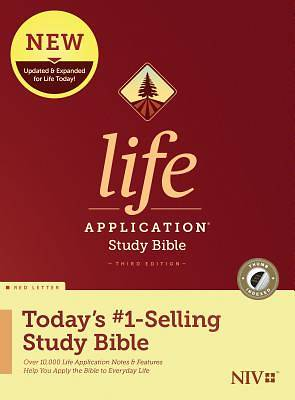 Picture of NIV Life Application Study Bible, Third Edition (Red Letter, Hardcover, Indexed)