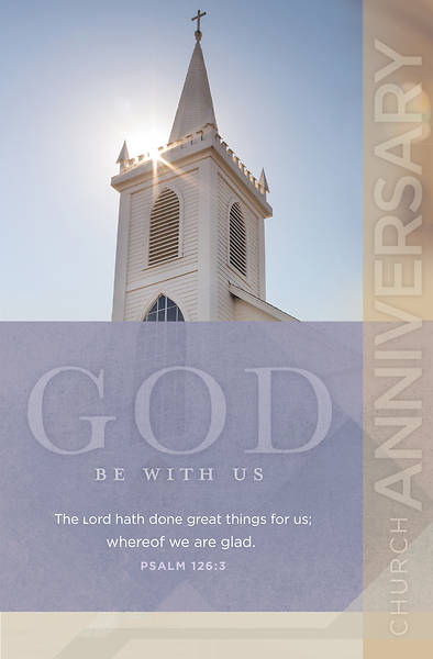 Picture of The Lord Has Done Great Things Church Anniversary Bulletin - Pack of 100