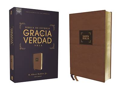 Picture of Nbla Biblia de Estudio Gracia Y Verdad, Leathersoft, Café, Interior a DOS Colores