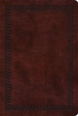 Picture of ESV Large Print Compact Bible (Trutone, Mahogany, Border Design)