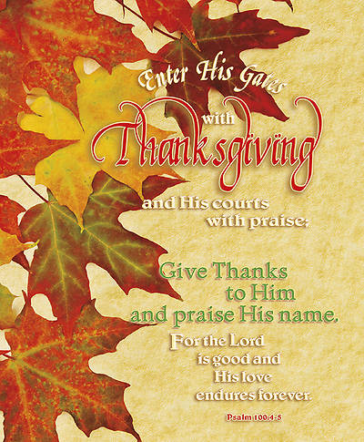 Thanksgiving and Praise Bulletin Legal  (Package of 100)