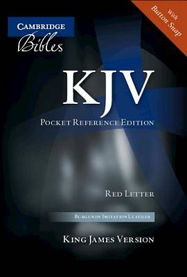 KJV Pocket Reference Burgundy Imitation with Flap Kj242