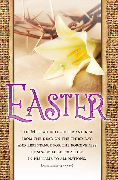 Picture of The Messiah Will Suffer Easter Bulletin - Pack of 100