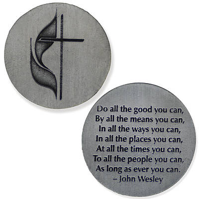 Cross & Flame John Wesley Pocket Coin