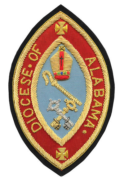 Hand Embroidered Diocesan Seal Diocese of Alabama