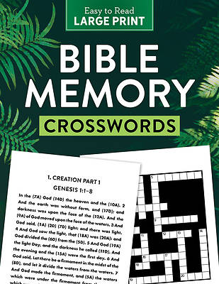Picture of Bible Memory Crosswords Large Print