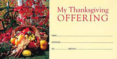 Picture of Put Your Trust in the Lord, Thanksgiving, Offering Envelope (Package of 50)