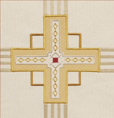 Picture of Kingdom Cross Ivory Wool Cross Style Antependium