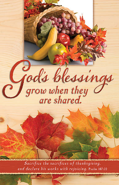 Thanksgiving Bulletin Gods Blessings Regular (Package of 100)