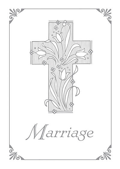 Picture of Marriage Certificate with Silver Cross