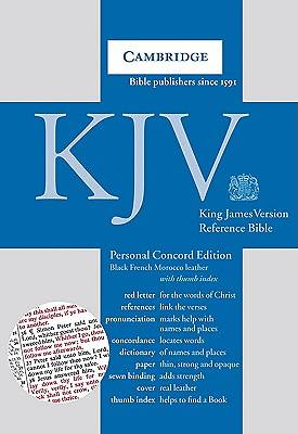 KJV Concord Reference Edition Personal Bible Black French Morocco