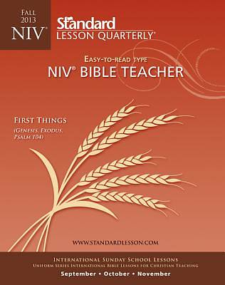 Standard Lesson Quarterly NIV Adult Teacher Guide Fall 2013