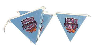 Picture of Vacation Bible School (VBS) 2020 Knights of North Castle Pennant String Flags
