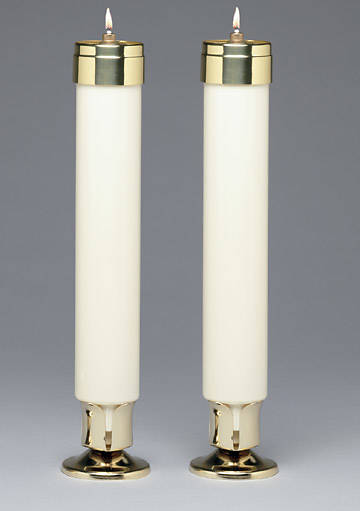 """Picture of Emkay Altar Elite Lite Recyclable Liquid Wax Candles - 12"""" X 2"""""""