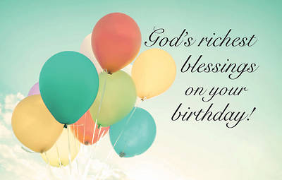 Picture of God's Richest Blessing Birthday Postcard