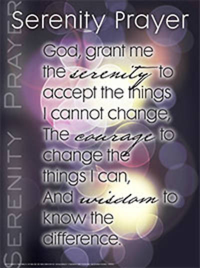 Picture of Serenity Prayer Wall Chart - Laminated