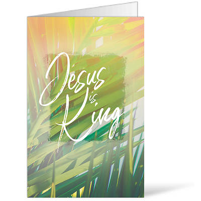 Picture of Jesus is King Palm Sunday Regular Size Bulletin
