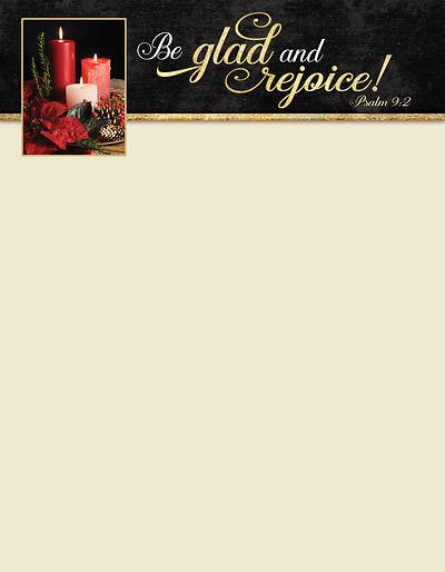 Picture of Be Glad and Rejoice Christmas Letterhead