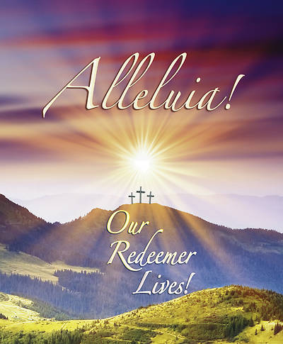 "Sunrise ""Alleluia Our Redeemer Lives"" Bulletin Large (Package of 100)"
