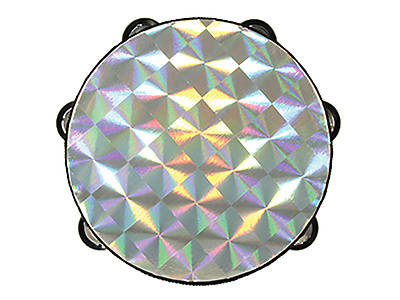 Picture of Silver Starburst Single Row Tambourine - 8""