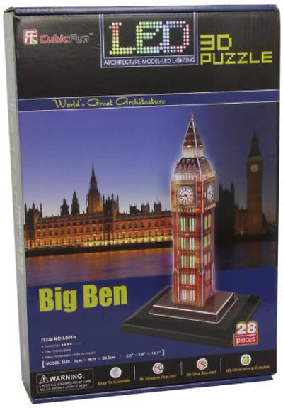 Picture of Big Ben 3D Puzzle with Base & Lights