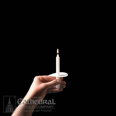 Picture of Cathedral Congregational Candles with Paper Bobeches - Box of 100
