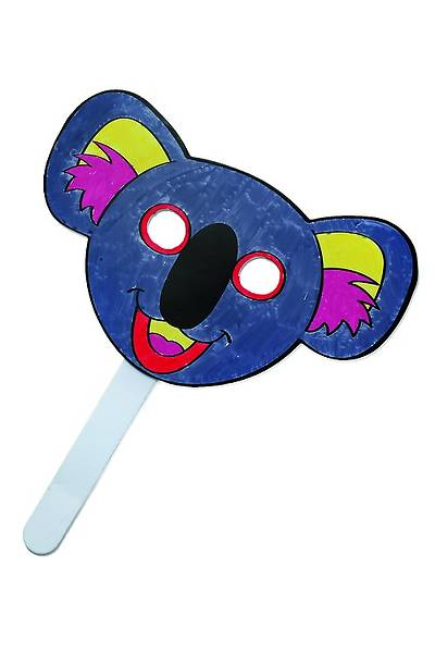 Vacation Bible School 2013 Everywhere Fun Fair  Pkg of 12 Koala Coloring Mask Preschool Craft VBS