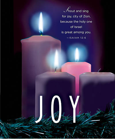 Joy Advent Candle Sunday 3 Bulletin, Large (Pkg of 50)