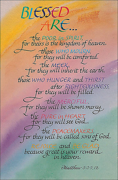 Beatitudes Regular Size Bulletin (Package of 100)