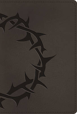 Picture of ESV Large Print Compact Bible (Trutone, Charcoal, Crown Design)