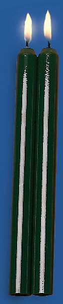 """Picture of Candle Outer Shell Tube Green 10"""" Pair"""