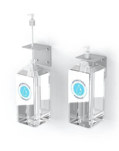 Picture of Hand Sanitizer Pump Dispenser Wall Mount Brackets - Set of 4