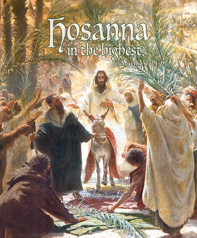 Hosanna Highest Palm Sunday Legal Size Bulletin