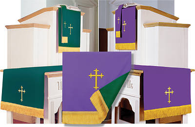 Picture of Abbott Hall EPC3-PG Reversible Purple/Green Three-Piece Parament Set