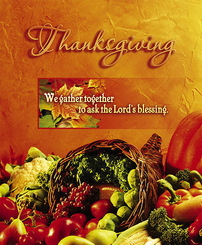 We Gather Together Thanksgiving Bulletin Large (Package of 100)