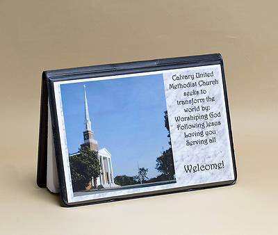 Attendance Registration Pad Holder with Front Cover Pocket--Black