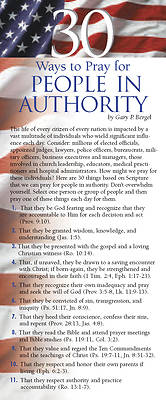 Picture of 30 Ways to Pray for People in Authority 50-Pack